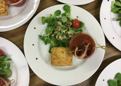 Tartare Tomate et feuilleté foie gras 2